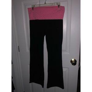 VS Pink Bootleg Yoga Pants- Size Medium